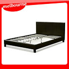 """VIC PICKUP"" California Leather Bed Frame (King/Queen/Double - Black/White)"