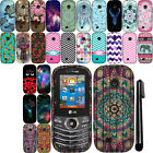 For LG Cosmos 3 VN251S Cosmos 2 VN251 Snap On PATTERN HARD Case Phone Cover +Pen