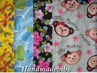 CHILD XL TODDLER BIB HANDMADE MONKEYS BUMBLEBEES HEARTS BUTTERFLIES