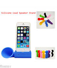 For Iphone 4/4s 5/5s 6 Plus Silicone Amplifier Horn Loud Speaker Stand Dock New