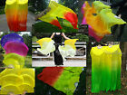 1 pair sturdy YL~various colors 1.5m*0.9m belly dance silk fan veils+carry bag.