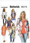 Butterick 6176 Loose Kimono Top XS to Plus Size Sewing Pattern B6176 6 in 1