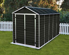 PALRAM SKYLIGHT GARDEN SHED 2015 NEW DARK BROWN IN 6 SIZES WITH FREE DELIVERY