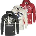 Mens Crosshatch Lion Roar Print Pull Over Hooded Top Sweatshirt Hoody Size