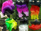1set light&sturdy black~various colors 1.8m*0.9m belly dance silk fan veils+bag.