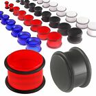 Pair Ear plugs acrylic flesh tunnels earring gauges 9COC - SELECT COLOR&SIZE