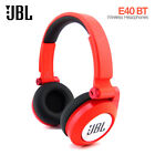 JBL E40BT Synchros Bluetooth Wireless Folding On-Ear Stereo Headphone Pure Bass
