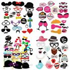 DIY Photo Booth Props Mask Moustache Lips on A Stick Wedding Birthday Supply