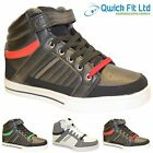 MENS ANKLE HI HIGH TOPS TRAINERS BOOTS CASUAL HIKING TREKKING SHOES ARMY SIZE