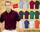Polo Golf Shirt Hanes Golf Tee Blended Jersey Sport Shirt Mens 054X Sizes S-6XL