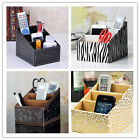PU Leather Remote/Cell Phone/Cosmetic/CD/stationery Organizer Caddy Holder
