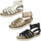 Girls Spot-On Gladiator Sandals H0131