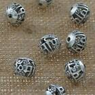 Jewelry Findings Tibetan Silver 11mm Hole 2mm Hollow Round Loose Beads AD-45803