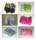 New 25Pcs Organza Wedding Gift Jewellery Bag Pouch 7x9cm Heart Pattern 6 Colour