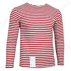Genuine RUSSIAN Red Stripe OMON T-Shirt Long Sleeve Top MVD Telnyashka All Sizes