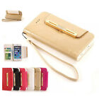 New Luxury Diamond Wallet Handbag Leather Case Cover For Samsung Galaxy S6 G9200