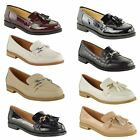 WOMENS LADIES VINTAGE FLAT LOAFERS SMART CASUAL SCHOOL OFFICE WORK SHOES SIZE