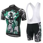 2015 Skeleton Cycling Bike Short Sleeve Clothing Bicycle Wear Jersey Bib Shorts