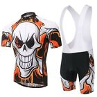 Flame Skull Cycling Bike Short Sleeve Clothing Bicycle Wear Jersey (Bib) Shorts