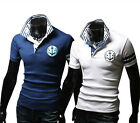 Trendy Design NEW Mens Brave Soul Polo T-Shirt Collar Short Sleeved Summer BDAU