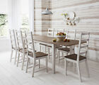 Dining Table and Chairs Dark Pine and White with Extending Table  Canterbury