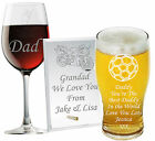 Personalised Glass Father's Day Gifts Daddy Grandad Dad Grampi Papa Pops Granda