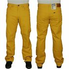 MENS LEE JEANS BROOKLYN STRAIGHT LEG REGULAR FIT STRETCH CARAMEL YELLOW COLOURS