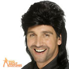 1980s Black Mullet Wig Jason Donovan Classic Fancy Dress Costume Accessory