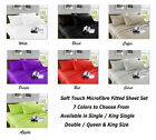 Soft Microfibre Sheet Set Single, King Single , Double , Queen &  King Size Bed