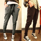 Black Womens Nice Sport Tracksuit Casual Jogging Bottoms Joggers Harem Pants Hot