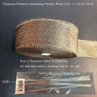 """Hiwow Thermal Header Pipe Tape Titanium Lava Exhaust Wrap 2""""x 50ft Ties Kit 2015"""