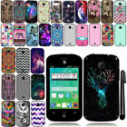 For ZTE Prelude 2 Z667G Cute Design TPU SILICONE Rubber Case Phone Cover + Pen