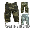 Mens Camo Shorts Crosshatch Mens Cotton Summer Camouflage Designer Cargo Pants