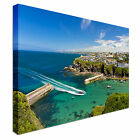 Cove and harbour of Port Isaac Canvas Art Cheap Wall Print Home Interior