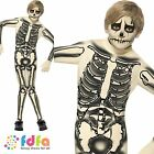 SKELETON SECOND SKIN ONESIE HALLOWEEN - age 7-12 - kids boys fancy dress costume