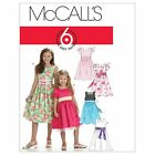 McCalls 6020 Girls Pretty Summer Party Dresses Sewing Pattern 3-14 Yrs M6020