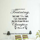 MUHAMMAD ALI WALL ART CHAMPION QUOTE STICKER GYM BEDROOM BOXING SPORT DECAL