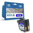 COMPATIBLE FRAMA 1019156 MATRIX F42 FRANKING MACHINE BLUE INK CARTRIDGE