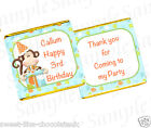 PERSONALISED BIRTHDAY CHOCOLATES  - 1ST,2ND,3RD,4TH BIRTHDAY - MONKEY ELEPHANT