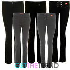 GIRLS BLACK GREY SCHOOL TROUSERS WOMENS MISS SEXIES TROUSERS SHORT REGULAR LONG