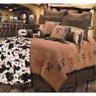Western Branded Pattern Comforter Bedding Bedroom 5pc Set  FREE SHIPPING