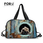 Cute Animal Pug Travel Luggage Duffle Gym Bags Suitcase Tote Sport Yoga Fitness