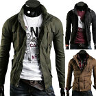 UK SHIP Mens Slim Fit Coat Military Style Jackets Army Cargo Designer Outerwear