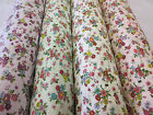 """Cool Tropical"" Floral 100% Cotton Poplin Printed Fabric. 4 Colours!"