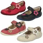 Girls Clarks Shoes with Flower Detail - Softly Candy