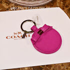 Coach Authentic Gold Signature Bow Tie Mirror Key Ring FOB  MARVELOUS MAGENTA