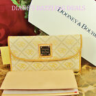 Dooney & Bourke NEW Signature Quilted Checkbook Wallet VANILLA ret $ 175 SALE