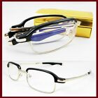 Men Folding Portable Reading glasses spring hinge 1 1.5 2 2.5 3 3.5 4 black/gold