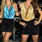 PLUS SIZE M L XL 2XL Women Backless Halter Satin Clubwear Hips-Wrapped Pub Dress