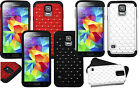 FOR SAMSUNG GALAXY S5 Studded Phone Case Hybrid Hard Cover Protector 2layer